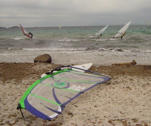 Ma fière monture sur la plage de la Madrague