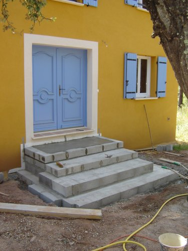 Construction de l 39 escalier for Construction escalier exterieur beton