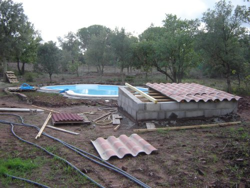 Construction De La Piscine (local Technique)