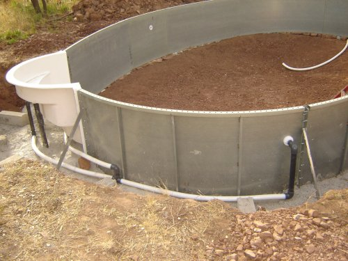 Construction de la piscine tuyauterie for Tuyau vidange piscine