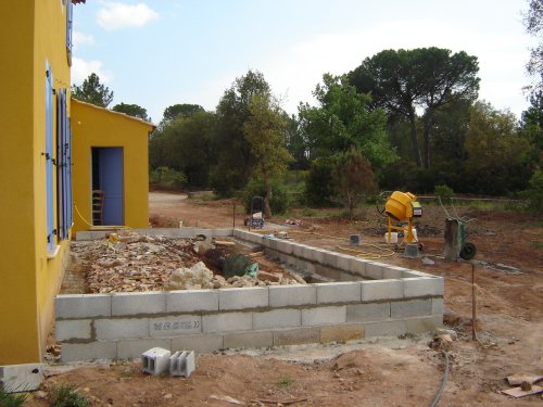 Pics photos maison m me la construction d une terrasse l - Construction d une terrasse ...